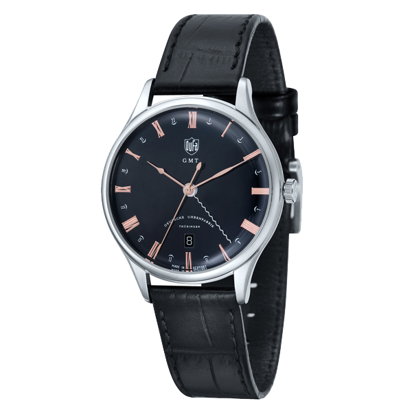 DUFA ドゥッファ Weimar GMT ドイツ製 腕時計 DF-9006-01