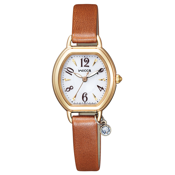wicca ウィッカ ソーラーテック ブレスライン 【国内正規品】 腕時計 レディース KP2-523-10 【送料無料】
