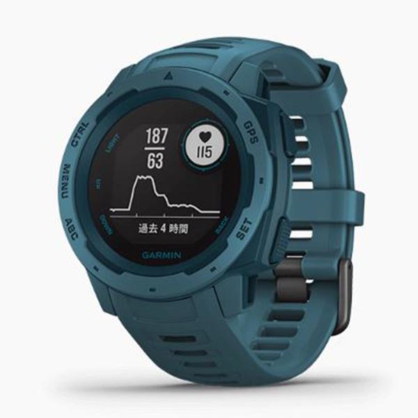 GARMIN ガーミン Instinct Lakeside Blue GPSアウトドアウォッチ 010-02064-52