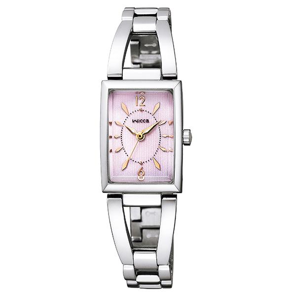 wicca ウィッカ CITIZEN シチズン ソーラーテック スクエアソーラー バングル 腕時計 レディス KF7-511-91