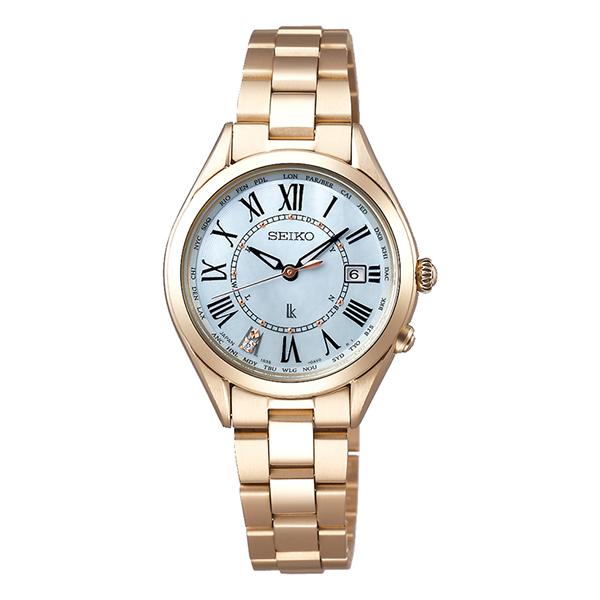 SEIKO LUKIA  セイコー ルキア 電波ソーラー  ラッキーパスポート  レディーゴールド 腕時計 レディス  SSQV068