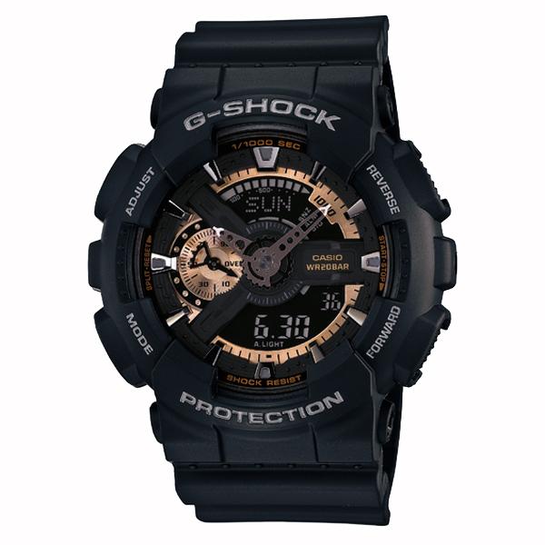 G-SHOCK ジーショック CASIO カシオ Rose Gold ローズゴールド 【国内正規品】 腕時計 メンズ ブラック/ローズゴールド GA-110RG-1AJF 【送料無料】