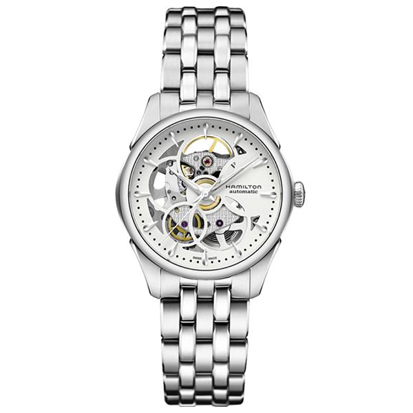 HAMILTON ハミルトン JAZZ MASTER ジャズマスター ビューマチック SKELETON LADY AUTO 自動巻 腕時計 レディース H32405111