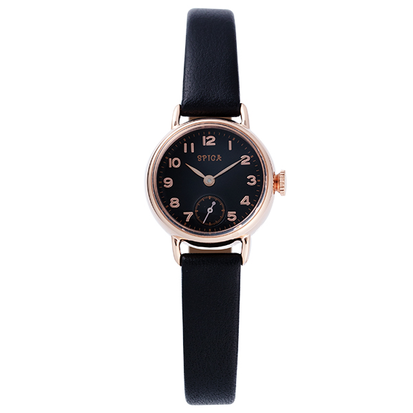TiCTACオリジナル SPICA スピカ 腕時計 レディス スモールセコンド SPI16-PG/BK