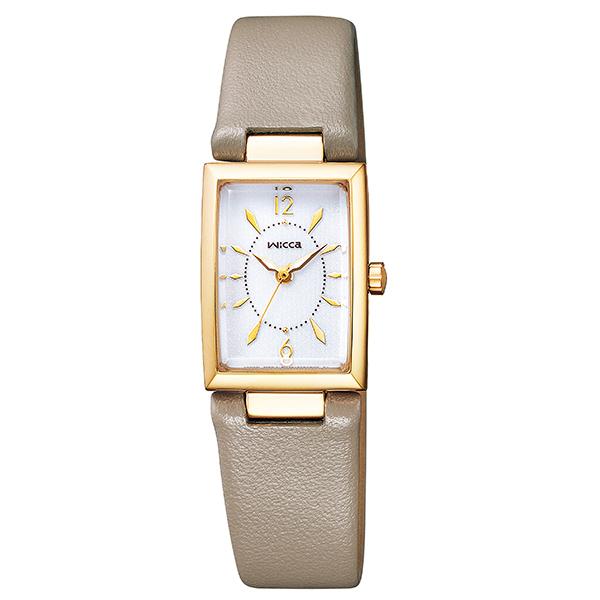 wicca ウィッカ CITIZEN シチズン ソーラーテック スクエアソーラー バングル 腕時計 レディス KF7-520-10