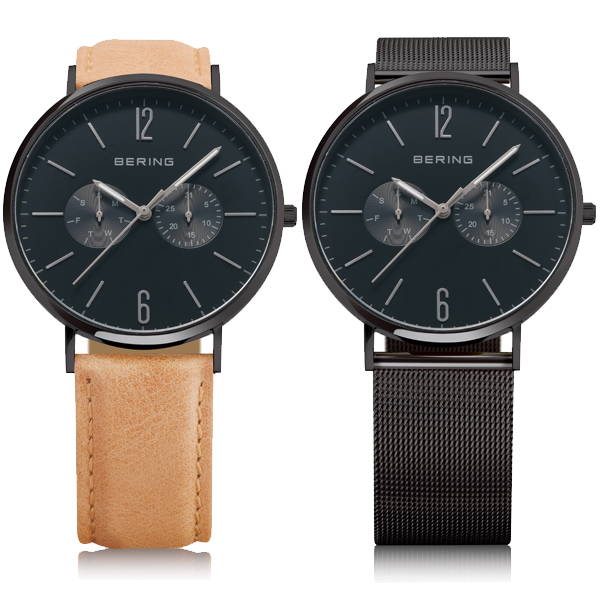 BERING ベーリング Changes Mes&Leather 2本ベルト 国内正規品 腕時計 14240-222 【送料無料】