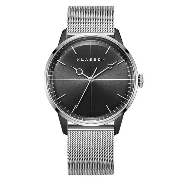 KLASSE14 クラス フォーティーン 腕時計 メンズ Disco Volante Silver Black Mesh 40mm WDI19SB001M