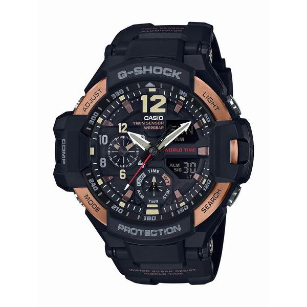 G-SHOCK ジーショック GRAVITYMASTER Vinrtage Black & Gold 【国内正規品】 腕時計 メンズ GA-1100RG-1AJF 【送料無料】