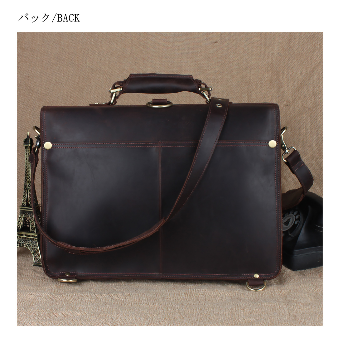 a800ae4798f42 ... TIDING studs reinforcement 3WAY men genuine leather briefcase business  bag rucksack thick cowhide oil leather secular ...