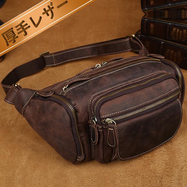 39d1926e9c7b8 A lot of TIDING pockets men bum-bag hips bag body bag genuine leather thick  ...