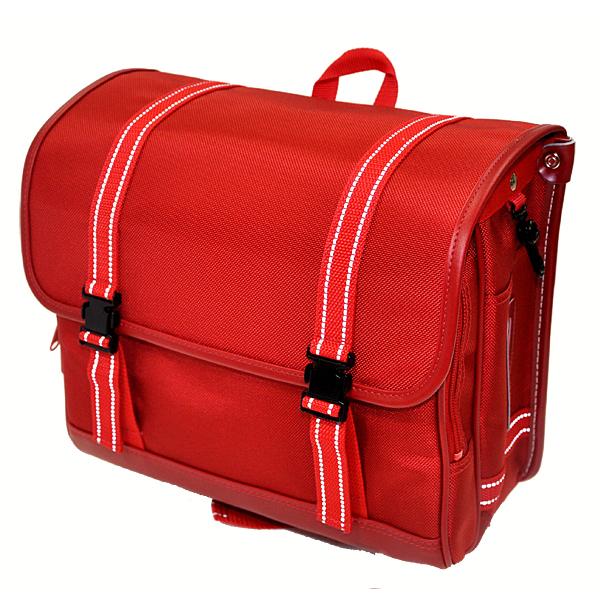 【送料無料】キディーワイド・Kiddy Wide ナイロン製ランドセル021【赤・レッド】