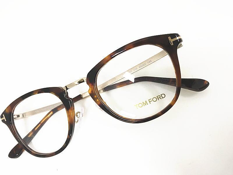 TOM FORD(トムフォード) TF5466 056 正規品 眼鏡 メガネ フレーム メンズ レディース ギフト べっ甲 ダークブラウン ダテ ボストン 人気 コンビ