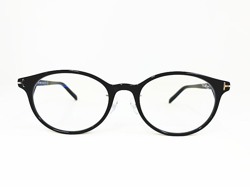 TOM FORD トムフォード 日本限定モデル  TF5648-D-B 001 正規品 ブルーライトカットレンズ 眼鏡 メガネ フレーム メンズ レディース ギフト ブラック 黒 オーバル 丸眼鏡 ダテメガネ ビジネス