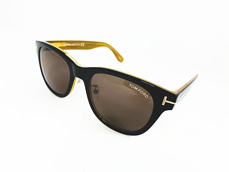 TOM FORD(トムフォード)復刻限定サングラス TF9257 01J 正規品 定価53,900円 サングラス 眼鏡 メガネ フレーム メンズ レディース ギフト 黒 ブラック ボスリントン ブラック ブラウンレンズ
