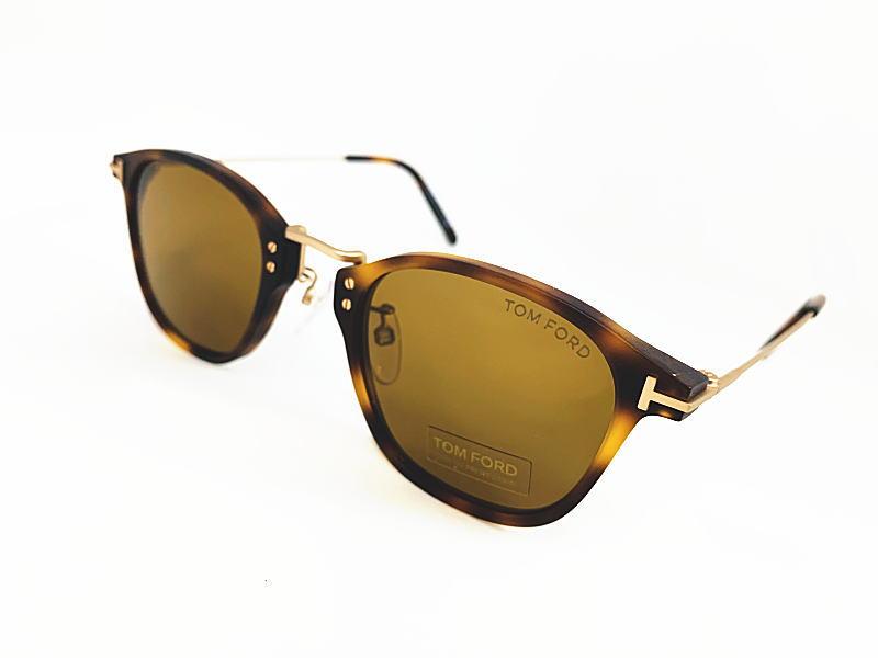 TOM FORD トムフォード 日本限定 TF793-D 52E 正規品 定価¥56,100 眼鏡 サングラス UVカット メガネ フレーム メンズ レディース ギフト マットハバナ ライトブラウン マットゴールド コンビ ウェリントン スクエア