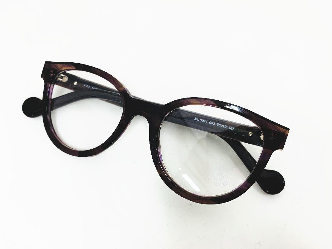 MONCLER(モンクレール) ML5041 083 正規 メーカー希望小売価格 \46,200.- 眼鏡 メガネ フレーム  レディース メンズ ギフト クリア  パープル マット ボストン ボスリントン ビジネス フォーマル 伊達メガネ