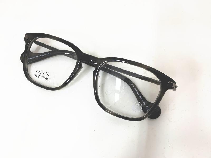 MONCLER(モンクレール) ML5045-F 055 正規 メーカー希望小売価格 \47520.- 眼鏡 メガネ フレーム  レディース メンズ ギフト クリア グレー ウエリントン グレーマーブル ビジネス フォーマル 伊達メガネ