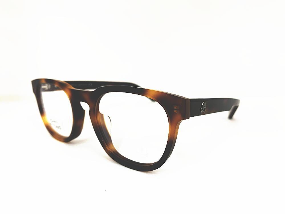 MONCLER(モンクレール) ML5052-F 052 正規品 メーカー希望小売価格 \46,200.- 眼鏡 メガネ フレーム メンズ レディース ギフト ブラウン べっ甲 デミ スクエア ウエリントン ボスリントン パント ビジネス フォーマル