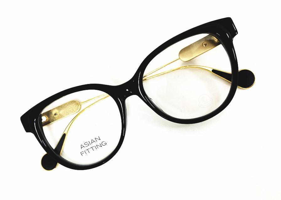 MONCLER(モンクレール) ML5056-F 001 正規品 メーカー希望小売価格 \46,200.- 眼鏡 メガネ フレーム メンズ レディース ギフト ゴールド コンビ ブラック 黒縁 スクエア ボストン ボスリントン パント ビジネス フォーマル オシャレ