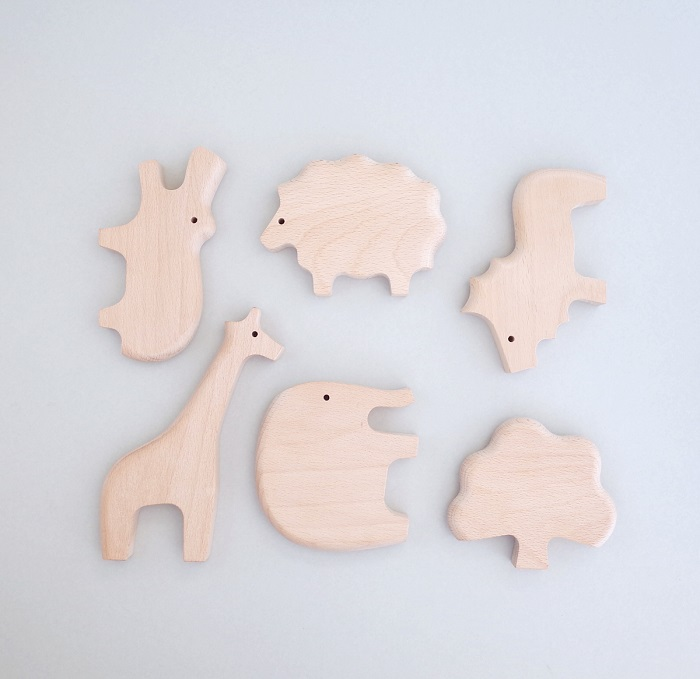 「&Learn (アンド・ラーン) 動物シリーズ」 積み木といっしょに ごっこあそびプレゼントに最適 6個セット