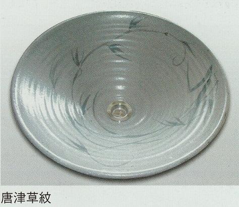 陶芸手洗い鉢 美濃焼 唐津草紋 中 和風 温かみのある空間を作ります