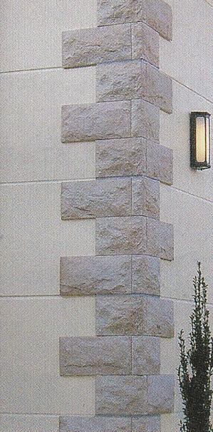 コーナー用(角用) 曲り ケース販売(10入り) 超軽量ストーン 天然石こぶ板風 壁用