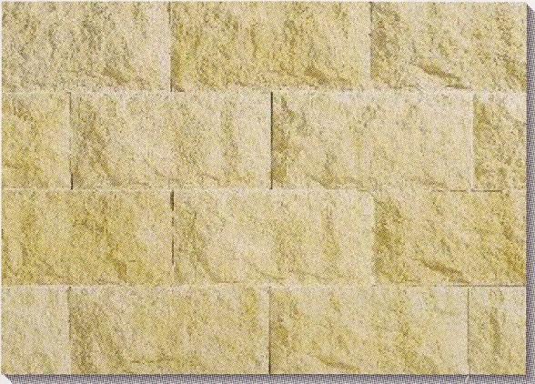超軽量ストーン 天然石こぶ板風 タイル ケース販売(13枚入り) 壁用 390X190mm さびイエロー(黄色)。加工が簡単(塀・玄関・店舗等のDIYリフォームにお勧め)かるくて施工が楽々!タイル接着剤で貼れます