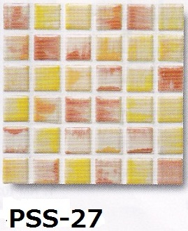 カラフルなデザイン 浴室 お風呂 洗面所など水回りや カウンター トイレ 玄関のリフォームにOK 床 壁 内 外に おしゃれなインテリア 建材 144粒 ピンクミックス 大理石調 キッチン モザイクタイル 美濃焼 シート 磁器質 23角 壁等のDIYに 初売り 商店 黄 雑貨