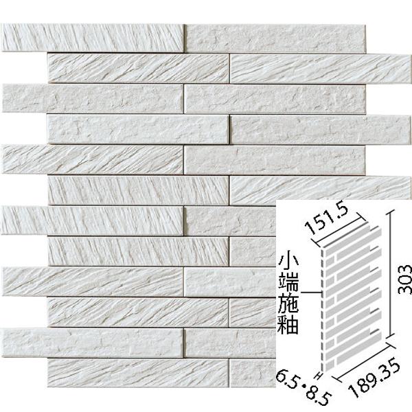 LIXIL INAX タイル エコカラットプラス グラナス ルドラ 25×151角片面小端施釉(短辺)ネット張り ECP-2515N1/LDR4N