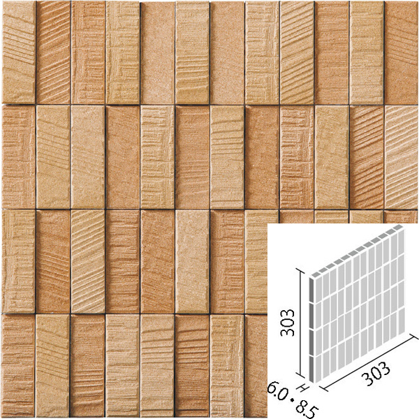 木材を粗く切ったような仕上げのレリーフが特徴です 寝室など穏やかな空間にお薦めです タイル エコカラットプラス 捧呈 ラフソーン 25×75角ネット張り バラ 限定価格セール LIXIL RGS3 INAX ECP-275NET