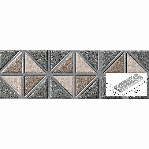 LIXIL INAX デザインボーダー 三角形ボーダーネット張り DSB-310NET/14