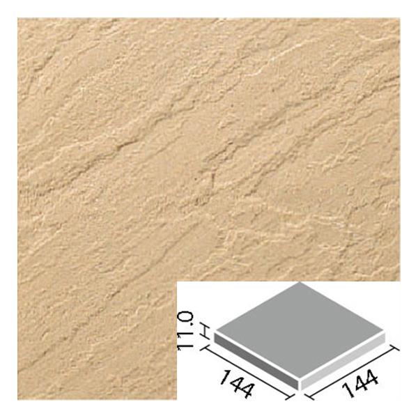 LIXIL INAX タイル 新砂岩タイル 床用 150mm角平 NSA-150M/12N