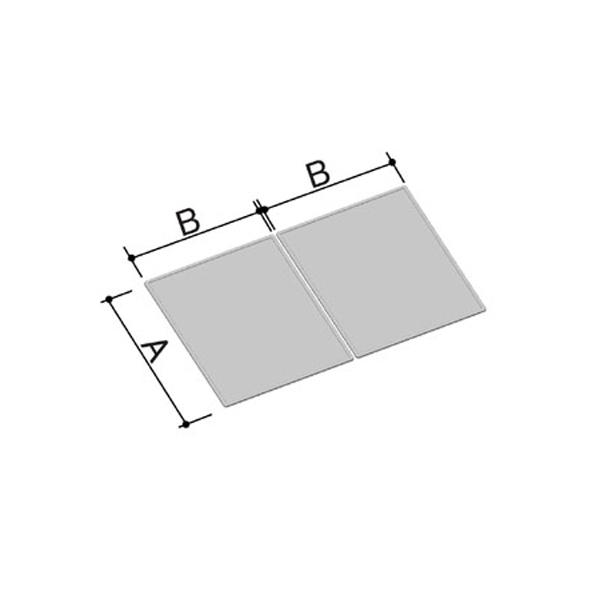 風呂ふた 680×1180mm 1200用組ふた(2枚) YFK-1270B(2) / LIXIL INAX