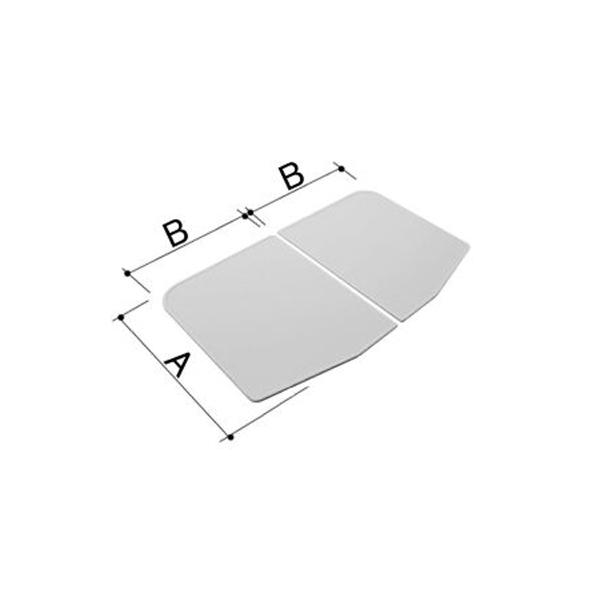 LIXIL INAX 風呂ふた 【YFK-1275B(6)-Kの代替商品】1200用組フタ(2枚) YFK-1275B(7)-K