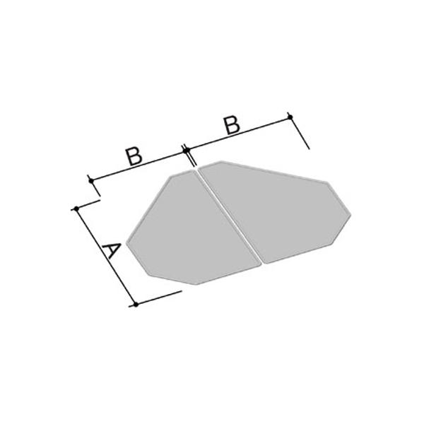 風呂ふた 980×1200mm 1200用組ふた(2枚) YFK-1298B(2) / LIXIL INAX
