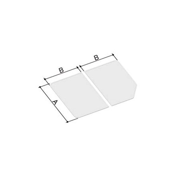 風呂ふた 755×1260mm 1300用組ふた(2枚) YFK-1376B(3) / LIXIL INAX