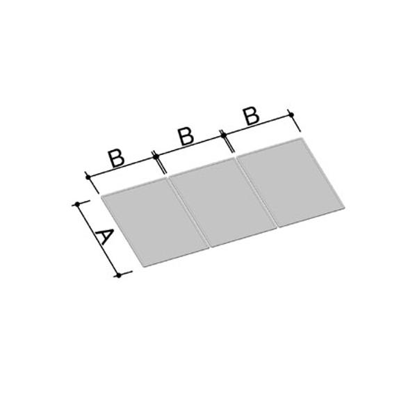 LIXIL INAX 風呂フタ 風呂ふた 1165×1533mm 1600用組ふた(3枚) YFK-1612C(3) / LIXIL INAX
