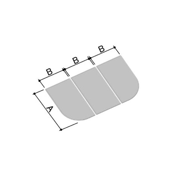 【YFK-1594C-Kの代替商品】1600用組フタ(3枚) YFK-1594C(2)