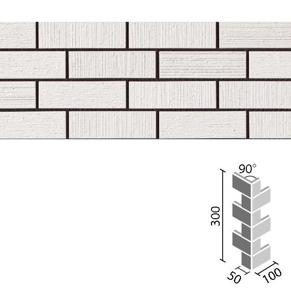 汎用性が高く、親しみやすい色合いと表情が、住宅の全面タイル張りに最適です。 タイル プレリュード 90°曲ネット張り[砂紋面](馬踏目地) HAL-255/90-14/PSM-1 / LIXIL INAX
