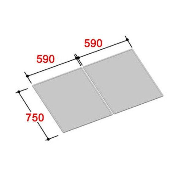 風呂ふた 750×1180mm 1200用組ふた(2枚) YFK-1280B(2) / LIXIL INAX