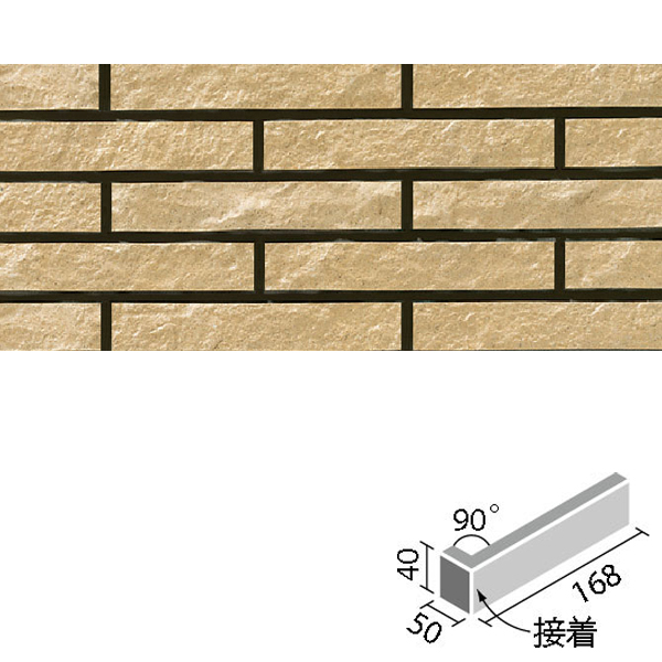 タイル クラシコライン 90°曲(接着)[岩面] CLL-40BN/90-14/3 / LIXIL INAX