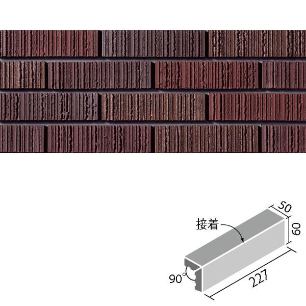 タイル 陶櫛目(とうくしめ) 二丁屏風曲(接着) HAL-25/TKS-5 / LIXIL INAX