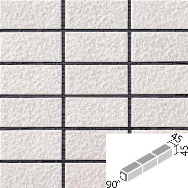 レイツロックアルファ2[はるかべ工法用] 90°屏風曲ネット張り COM-A255PNET/90-15/CFR-601 / LIXIL INAX タイル