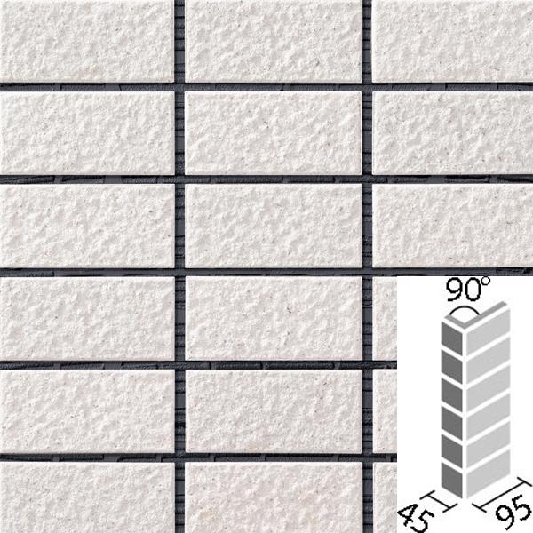 レイツロックアルファ2[はるかべ工法用] 90°曲ネット張り COM-A255PNET/90-14/CFR-601 / LIXIL INAX タイル