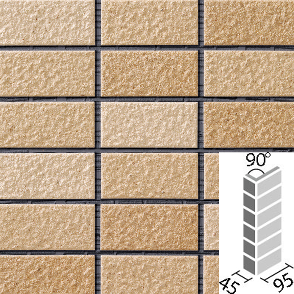 タイル レイツロックアルファ2[モルタル張り用] 90°曲紙張り COM-255/90-14/CFR-605 / LIXIL INAX