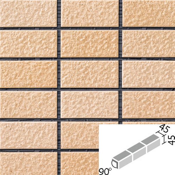 タイル レイツロックアルファ2[モルタル張り用] 90°屏風曲紙張り COM-255/90-15/CFR-604 / LIXIL INAX