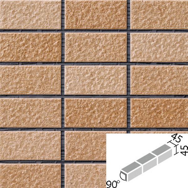 タイル レイツロックアルファ2[モルタル張り用] 90°屏風曲紙張り COM-255/90-15/CFR-609 / LIXIL INAX