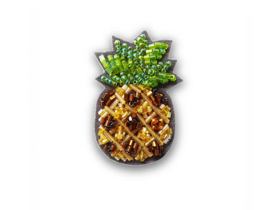 格安SALEスタート ビーズ刺繍のブローチキット 人気海外一番 パイナップル