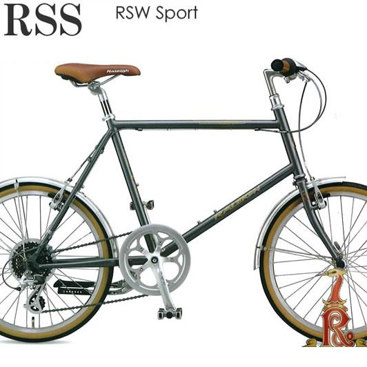 【送料無料※一部地域対象外】Raleigh RSS RSW Sport ラレー RSWスポーツ 20×1-3/8インチ(451) 外装8段変速 2018年モデル シマノ ALTUS採用 ドロヨケ、両脚センタースタンド装備 カッコいいフレームで乗りやすい 街乗り小径車 ミニベロ