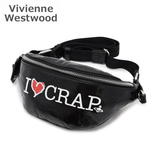 AW2019-20 ヴィヴィアンウエストウッド ボディバッグ 43070010-41025-N401 ブラック I Love Crap Mini Bum Bag レディース 【送料無料(※北海道・沖縄は1,000円)】